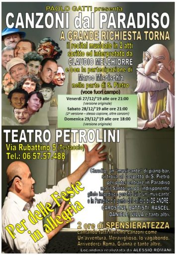 Canzoni dal paradiso – di e con Claudio Melchiorre