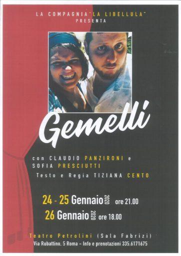 GEMELLI – scritto e diretto da Tiziana Cento