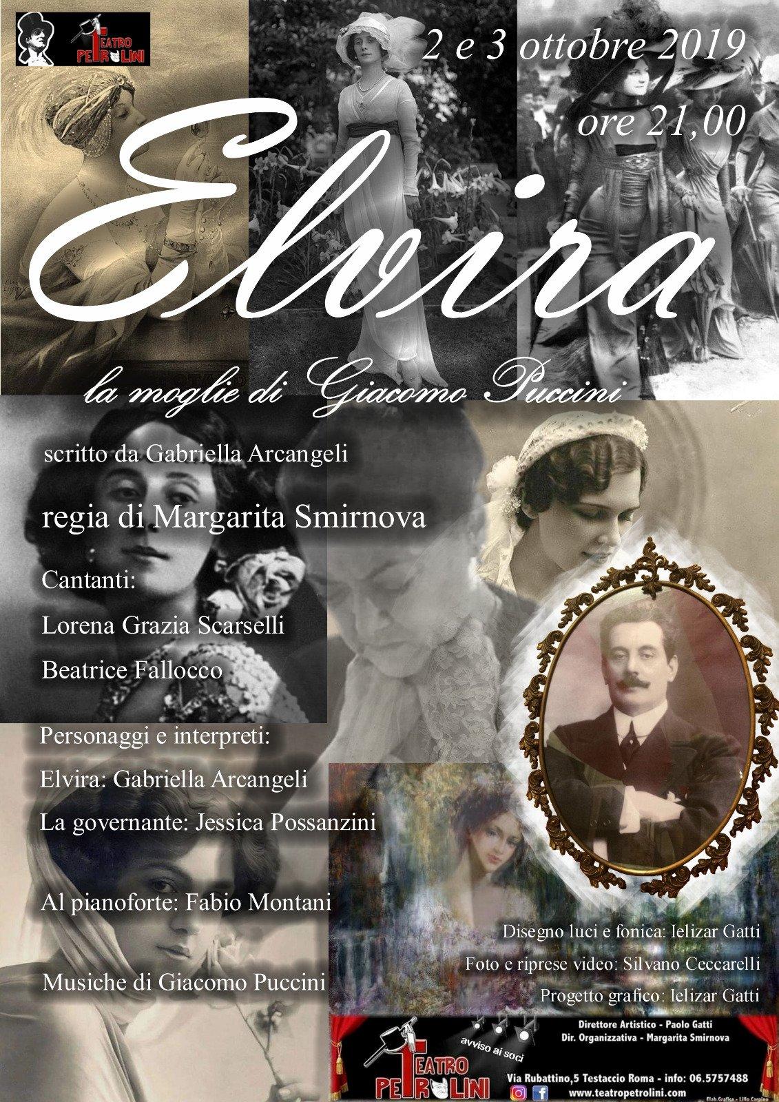 Elvira Bonturi, la moglie di Giacomo Puccini - Locandina