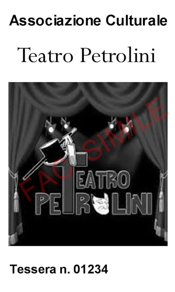 Tessera associativa del Teatro Petrolini - Fac simile